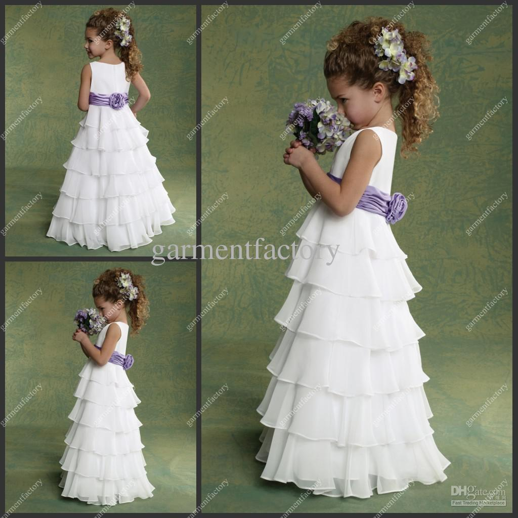 Cute Pink and White Baby Party Wear Dress with Layers