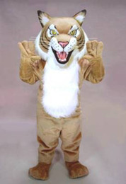 Wholesale Professional FIERCE WILDCAT cat mascot Costume Suit Halloween Christmas Birthday