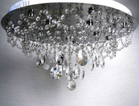 Wholesale High Power LED K9 Crystal Ceiling lamp Modern Fashion Dining Room Crystal Chandelier Dia mm