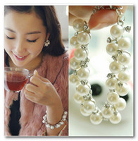 Wholesale 2012 Fashion Jewelry alloy pearl Crystal Bracelet pc