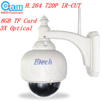 Wholesale Free Ship H P IR CUT WIFI PTZ Outdoor Waterproof Dome IP Camera Built in GB TF Card S572