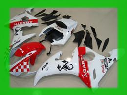 Red white ABARTH fairings for YAMAHA 2003 2004 YZF-R6 YZFR6 03 04 YZF R6 YZF600 bodywork fairing kit