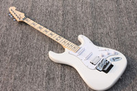Wholesale 2012 Best electric guitar white color with maple star fretboard H S S pickups ST23