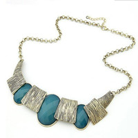 Wholesale Fashion Western Statement Choker Necklace Jewelry Factory Price Gift YYCN
