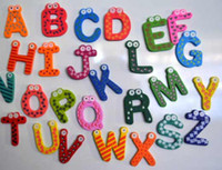 Wholesale Baby Wooden Magnet Letters Alphabet fridge Magnet Number Educational toy
