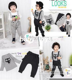 Wholesale boys long sleeve pants top children s suits boys girls Children s Outfits amp amp Set