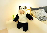 Wholesale 3Pcs Panda style thick romper Keep warm baby clothes for winter