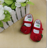 Wholesale Christmas TOP BABY shoes baby NEW flower prewalker infant girls first worker antiskid footwear