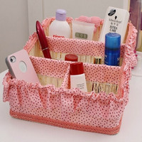 Wholesale Storage Box Dressing Case Powder Box Cosmetic Container Makeup Bags Sundries Storage Basket