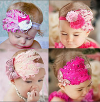 Wholesale Baby feather Headbands Children accessories Baby girl feather Hair Ornaments Shining headwear