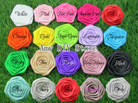 cotton fabric roll - Rolled Rosettes Satin Silk Flower DIY Fabric Rosette Hair Accessories flowers for baby girls headband MG009