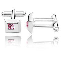 Wholesale Austria Crystal Cufflinks Make With Swarovski Elements Fashion Jewelry color