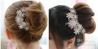 purple and pink  Women's Wedding Luxury crystal rhinestone flowers hair comb pin diamond hairpins jewelry wedding accessories XMAS
