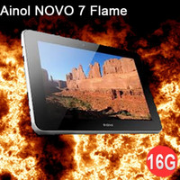 Wholesale Ainol Novo Flame Fire Android Tablet PC IPS HD Inch GB Dual CORE Camera MAh AA89