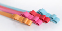 Wholesale 2015 Hot Factory Fashion Woman Lady Candy Color Bowknot Thin Skinny Waistband Butterfly Belt Leather Girdle Strap