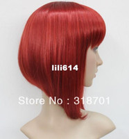 straight american quality assurance - Charming red short hair fashion wig Women smooth supple synthetic wigs Quality Assurance free shipp