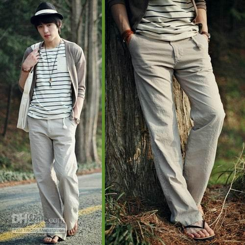 Best New Arrival Linen Fabric Loose Trousers,Summer Cool Pants ...