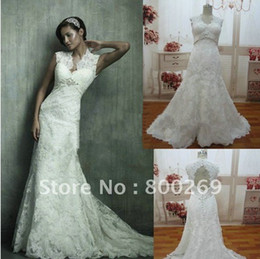 Wholesale New style fashion sexy pure white hot Selling All Lace Backless Spring Bridal Wedding Dresses