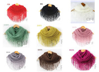 Wholesale 2012 Fashion Fringed scarf scarf knotted double head dual purpose set