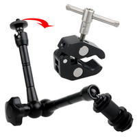 Wholesale 11 quot Adjustable Magic Arm big Super Clamp Mount Kit F Camera DSLR RIG Z96 LED Light