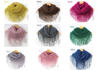 Wholesale 100pcs Fringed Scarf Head Scarf Fit men and women old and young Fashion Christmas gift