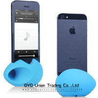 Wholesale Top Egg Design holder case for iphone g soft silicon horn stand case for iPhone