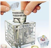 Other money box - FUNNY MONEY SAVING BANK MONEY MAZE COIN BOX PUZZLE GIFT GAME PRIZE