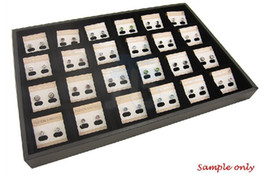 24 Compartment Charm Jewelry Display Case Tray Showcase
