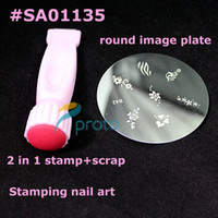 Wholesale DIY Nail Art Stamping Set Stamping Nail Art Kit Nail in1 Stamp Scraper and round Image Plate Who