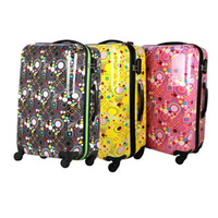 Wholesale Geometric dots Trolley Case of Korea new new suitcase board chassis suitcase caster
