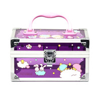 Wholesale The new Korean models genuine cosmetics cases hand painted cartoon box jewelry box cosmetic box cute