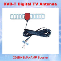 Wholesale GLL187 DVB T Digital Car TV Active Antenna with Amplifier special SMA connector for Europe