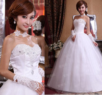 Reference Images White Strapless Korean Korean diamond wedding flowers bride wedding dress 2013 new sweet princess wedding
