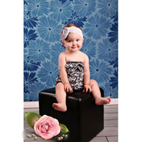 Wholesale RANDOM MIX damask Satin Petti Lace Rompers Baby Romper Kids with shouder