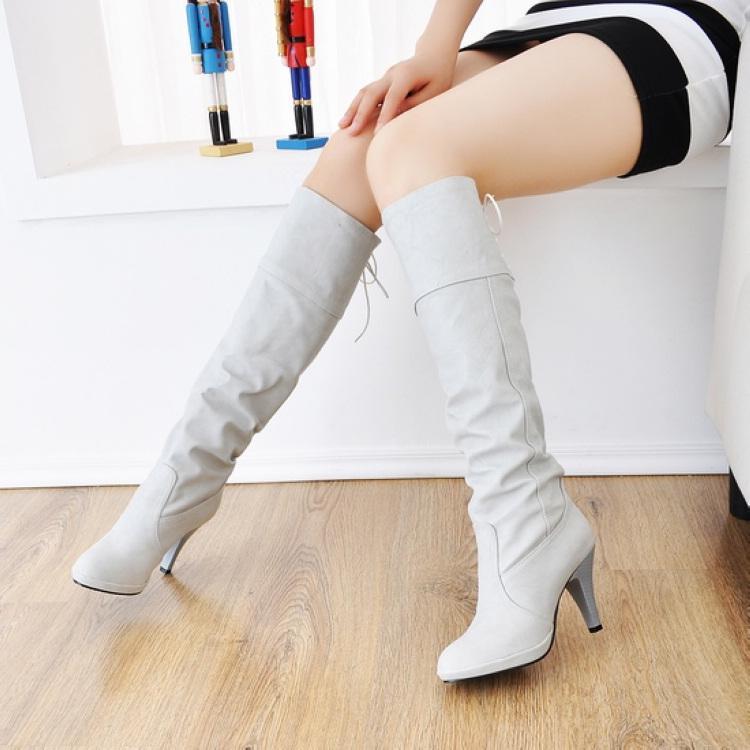 White Leather Boots For Women | Homewood Mountain Ski Resort