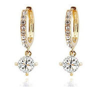 Wholesale high quality fashion zircon earrings crystal zircon hoops earrings dangles drop earrings