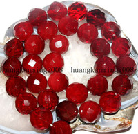 Wholesale 8mm Faceted Red Ruby Gems Loose Beads Gemstone quot AAA