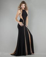 Reference Images Jewel Jersey 2013 Sexy Sheath Jewel Prom Dresses 762 Nude Color Tulle Black Jersey Sweep Train MZ094