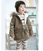 Wholesale boys thicken hooded parkas jackets trench coats girls hoodies overcoats greatcoats outerwears Y120
