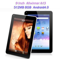 Wholesale 9 inch Capacitive Screen Android Tablet Tablets PC MID GB WIFI Bluetooth Allwinner A20 A13 MB RAM Dual Core Camera GHZ