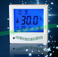 Wholesale Central air conditioning Fan Coil Temperature Controller LCD Thermostat Three speed Switch Panel