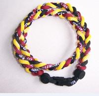 Unisex phiten - via DHL ropes tornado braided titanium ropes necklace Germanium amp Titanium quot