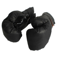 Wholesale Man s Boxing Gloves Training Sparring Gloves Imitation Leather New Black pairs