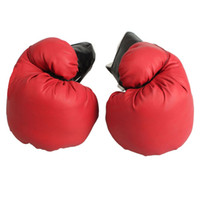 Wholesale Imitation Leather Boxing Gloves Training Sparring Gloves High QUality Red pairs