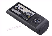 Wholesale 2 quot Degree Dual Lens Dash Board Camera Car DVR Black Box Video Recorder GPS logger
