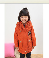 Girl 3T-4T Medium girls red thicken trench coats cotton parkas greatcoats overcoats kids tops blouses outerwears Y126