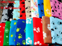 Wholesale Hot Sell Dog Pet Cat Paw Print Blanket Soft Puppy Fleece Blankets Mat Medium Size quot x27 quot