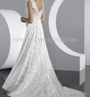 plus size wedding dresses - Cheapness High quantity A Line Princess Scoop plus size lace wedding dress for brides