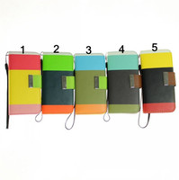 Leather For Apple iPhone  Wallet Leather Case Pouch with Stand for apple iphone 5 5G Tri-colors in one