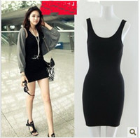 Wholesale 2013 new Fashionable Black Women s Dress Jumper Skirt Sexy Slim Dress